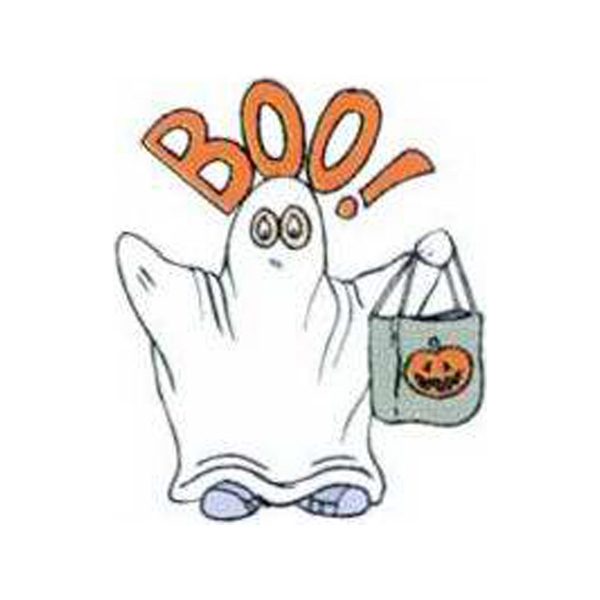 "Temporary Tattoos (tm) - Stock, Non Toxic, Hypoallergenic 2"" X 2"" Boo! Ghost Tattoo Is Fda Certified Photo"