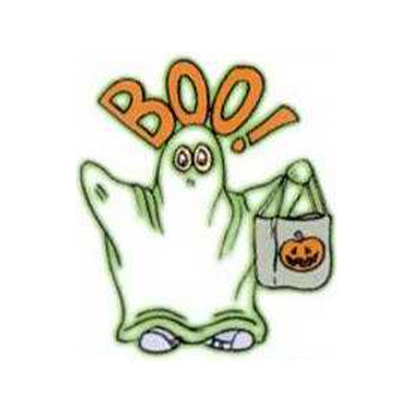"Temporary Tattoos (tm) - Stock, Non Toxic, Hypoallergenic 2"" X 2"" Boo! Ghost Glow Tattoo Is Fda Certified Photo"