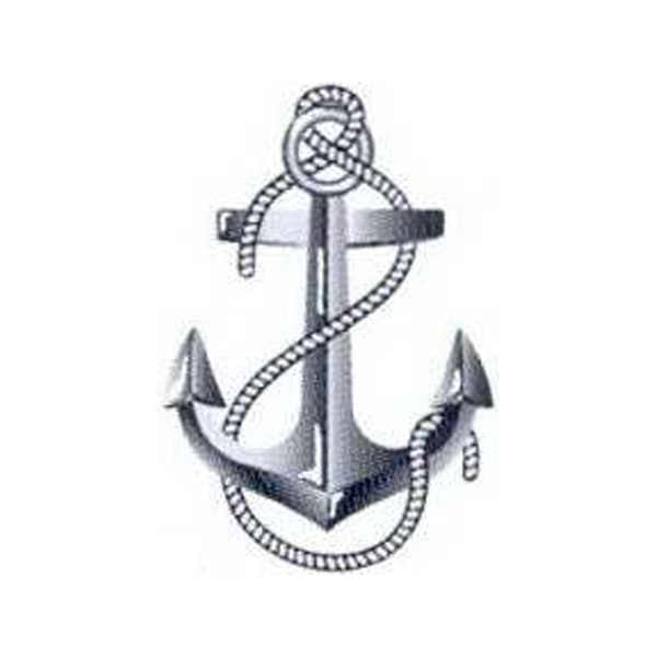 "Temporary Tattoos (tm) - Stock, Non Toxic, Hypoallergenic 2"" X 2"" Anchor Tattoo Is Fda Certified Photo"