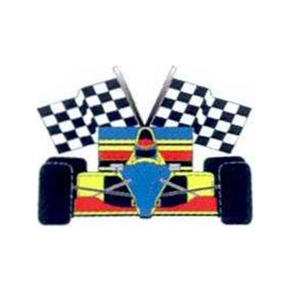 Temporary Tattoos (tm) - Stock, Non Toxic, Hypoallergenic Race Car With Checkered Flag Tattoo Photo