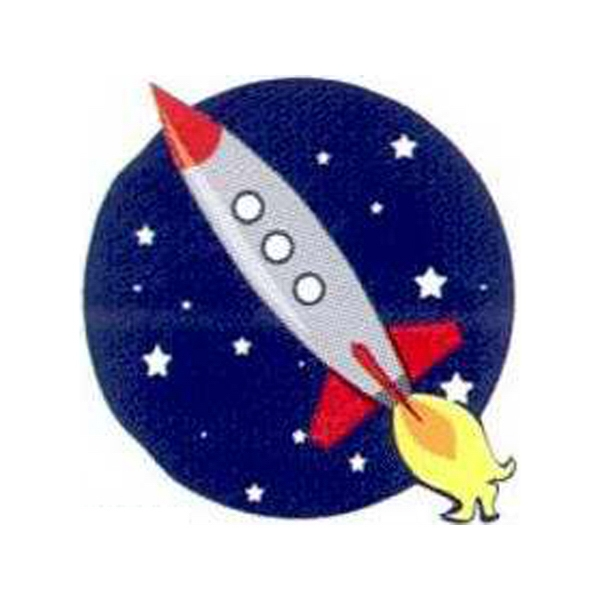 Temporary Tattoos (tm) - Stock, Non Toxic, Hypoallergenic Rocket Ship In Space Tattoo Is Fda Certified Photo
