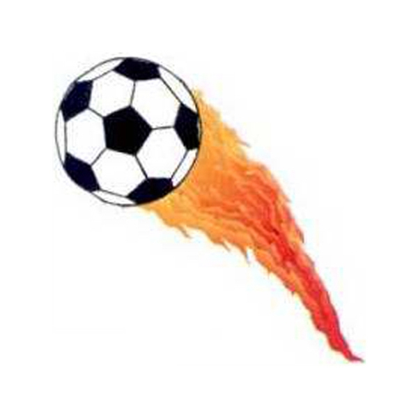Temporary Tattoos (tm) - Stock, Non Toxic, Hypoallergenic Flaming Soccer Ball Tattoo Is Fda Certified Photo