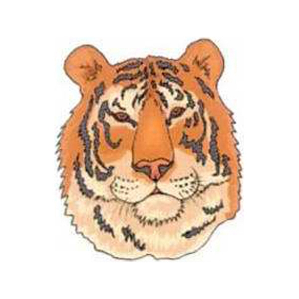 "Temporary Tattoos (tm) - Stock, Non Toxic, Hypoallergenic 2"" X 2"" Tiger Head Tattoo Is Fda Certified Photo"