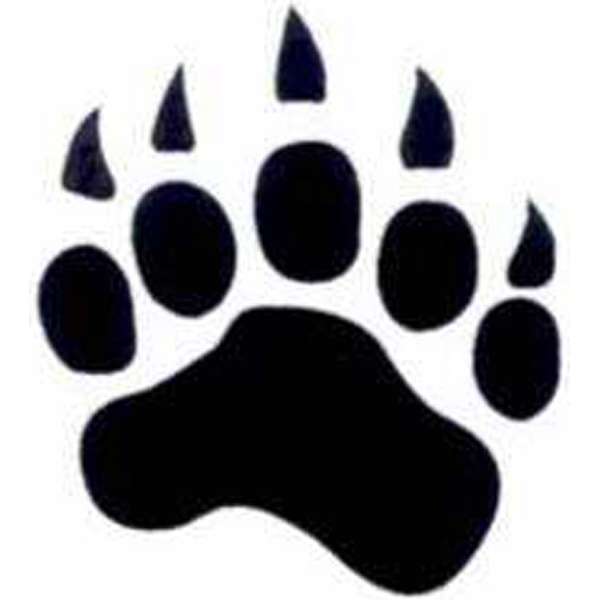 Temporary Tattoos (tm) - Stock, Non Toxic, Hypoallergenic, Paw Print With Claws Tattoo Is Fda Certified Photo