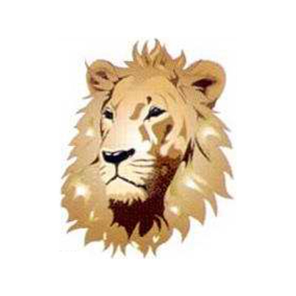 "Temporary Tattoos (tm) - Stock, Non Toxic, Hypoallergenic 2"" X 2"" Lion Head Tattoo Is Fda Certified Photo"