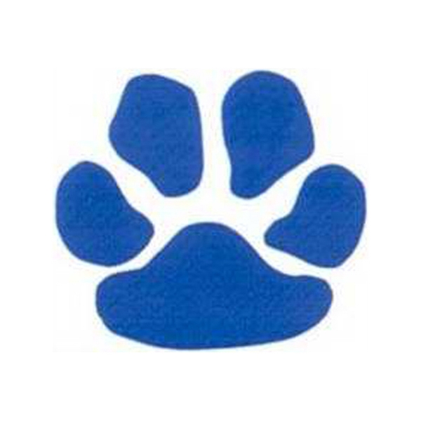 "Temporary Tattoos (tm) - Stock, Non Toxic, Hypoallergenic 2"" X 2"" Blue Paw Print Tattoo Is Fda Certified Photo"