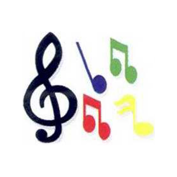 "Temporary Tattoos (tm) - Stock, Non Toxic, Hypoallergenic, 2"" X 2"" Musical Notes Tattoo Is Fda Certified Photo"