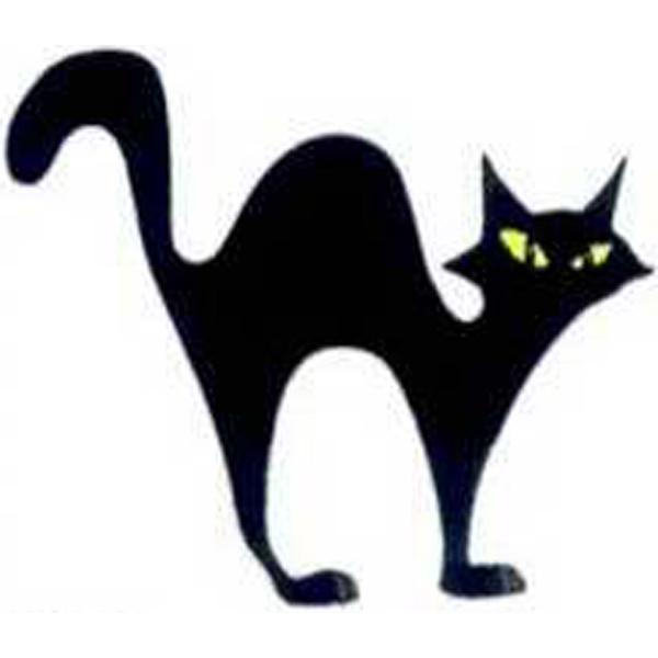 "Temporary Tattoos (tm) - Stock, Non Toxic, Hypoallergenic 2"" X 2"" Halloween Cat Tattoo Is Fda Certified Photo"