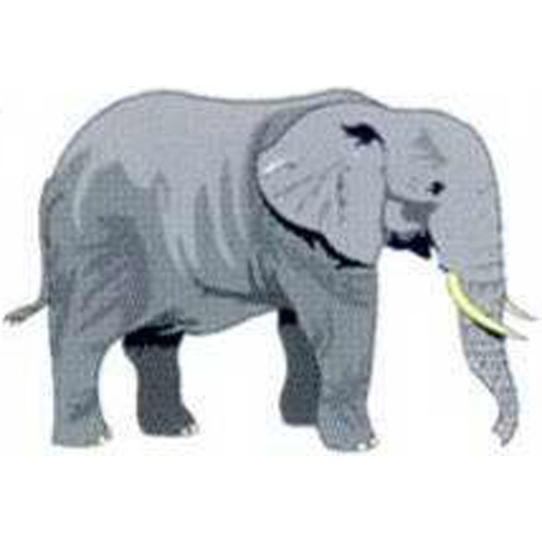 "Temporary Tattoos (tm) - Stock, Non Toxic, Hypoallergenic 2"" X 2"" Elephant Tattoo Is Fda Certified Photo"