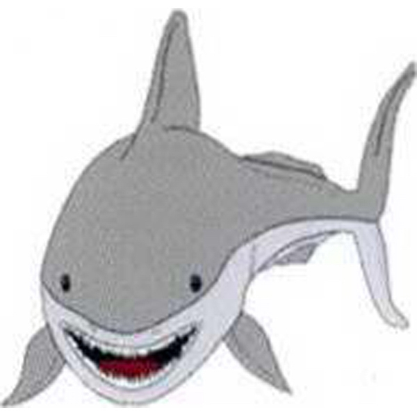 "Temporary Tattoos (tm) - Stock, Non Toxic, Hypoallergenic 2"" X 2"" Shark Tattoo Is Fda Certified Photo"