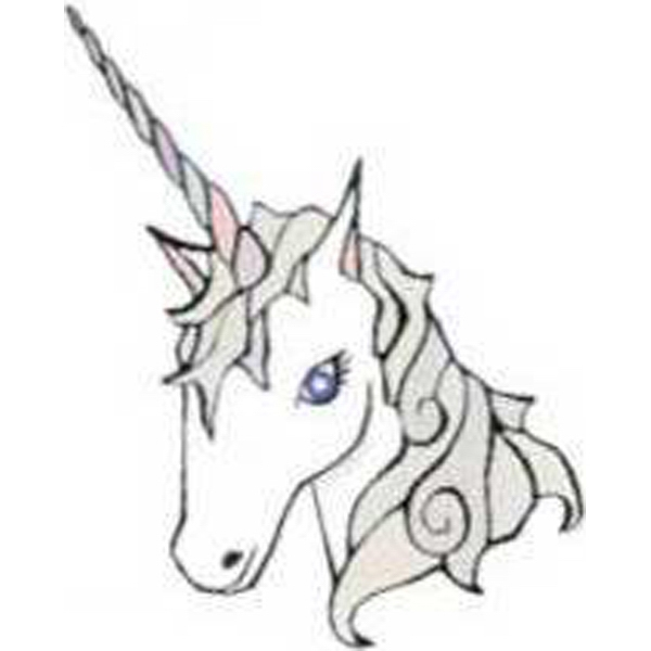 "Temporary Tattoos (tm) - Stock, Non Toxic, Hypoallergenic 2"" X 2"" Unicorn Head Tattoo Is Fda Certified Photo"