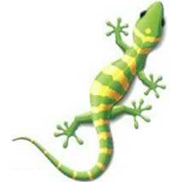 Temporary Tattoos (tm) - Stock, Non Toxic, Hypoallergenic Yellow And Green Reptile Tattoo Is Fda Certified Photo