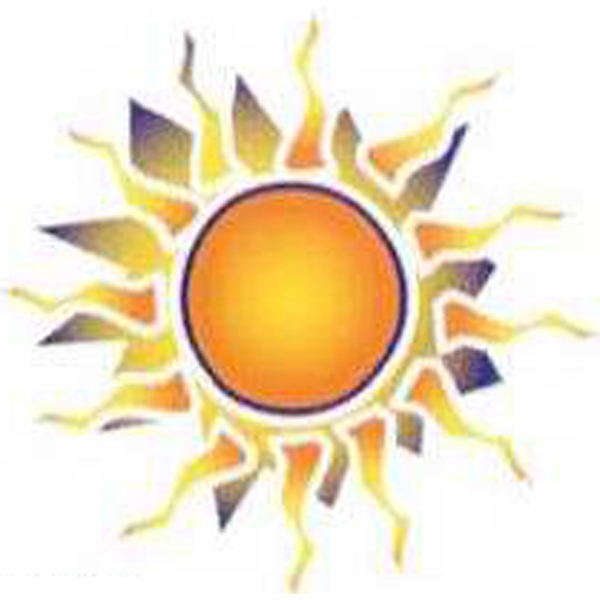 Temporary Tattoos (tm) - Stock, Non Toxic, Hypoallergenic, Sun Surrounded By Fire Design Tattoo Photo