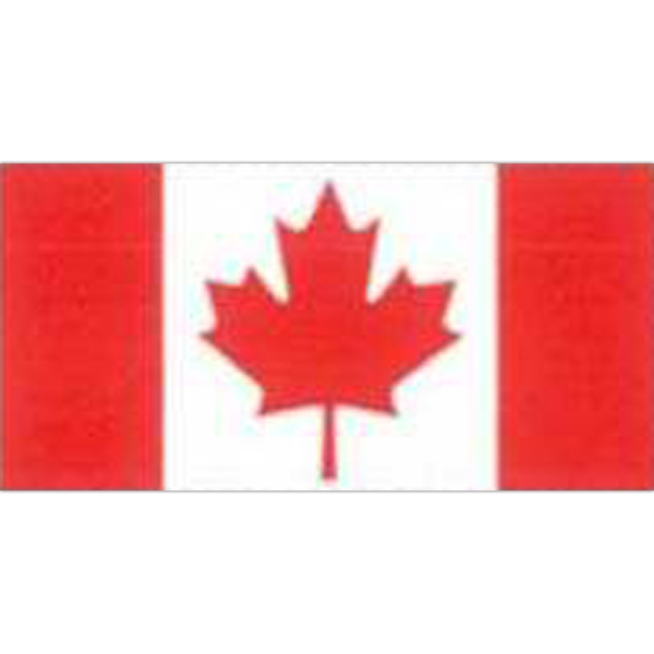 "Temporary Tattoos (tm) - Stock, Non Toxic, Hypoallergenic, 2"" X 2"" Canadian Flag Tattoo Photo"