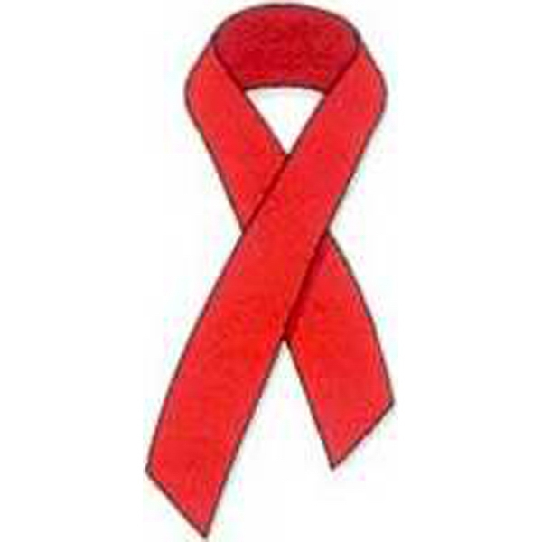 "Temporary Tattoos (tm) - Stock, Non Toxic, Hypoallergenic, 2"" X 2"" Red Awareness Ribbon Tattoo Photo"