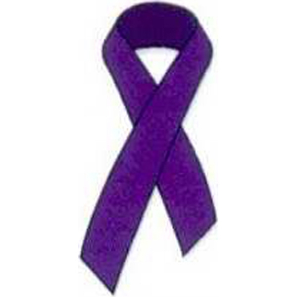 Temporary Tattoos (tm) - Stock, Non Toxic, Hypoallergenic Purple Awareness Ribbon Tattoo Is Fda Certified Photo