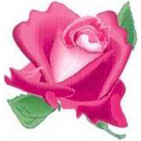 "Temporary Tattoos (tm) - Stock, Non Toxic, Hypoallergenic 2"" X 2"" Pink Rose Head Tattoo Is Fda Certified Photo"
