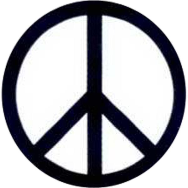 "Temporary Tattoos (tm) - Stock, Non Toxic, Hypoallergenic, 2"" X 2"" Peace Sign Tattoo Photo"
