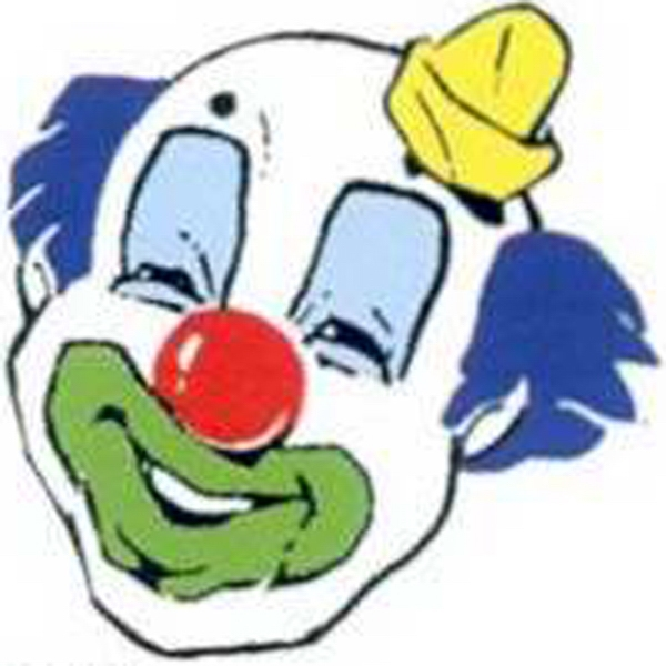 "Temporary Tattoos (tm) - Stock, Non Toxic, Hypoallergenic 2"" X 2"" Clown Face Tattoo Is Fda Certified Photo"