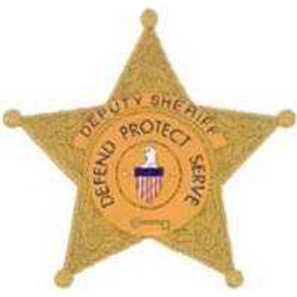 "Temporary Tattoos (tm) - Stock, Non Toxic, Hypoallergenic, 2"" X 2"" Sheriff's Badge Tattoo Is Fda Certified Photo"