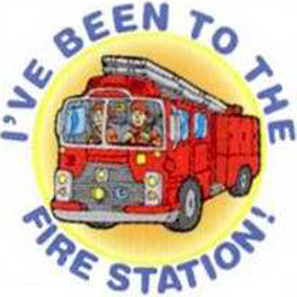 Temporary Tattoos (tm) - Stock, Non Toxic, Hypoallergenic Fire Truck - I've Been To The Fire Station Tattoo Photo