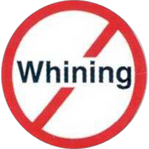 "Temporary Tattoos (tm) - Stock, Non Toxic, Hypoallergenic, 2"" X 2"" No Whining Sign Tattoo Photo"