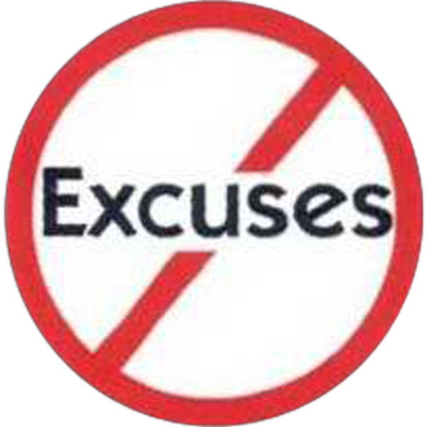 "Temporary Tattoos (tm) - Stock, Non Toxic, Hypoallergenic, 2"" X 2"" No Excuses Sign Tattoo Photo"