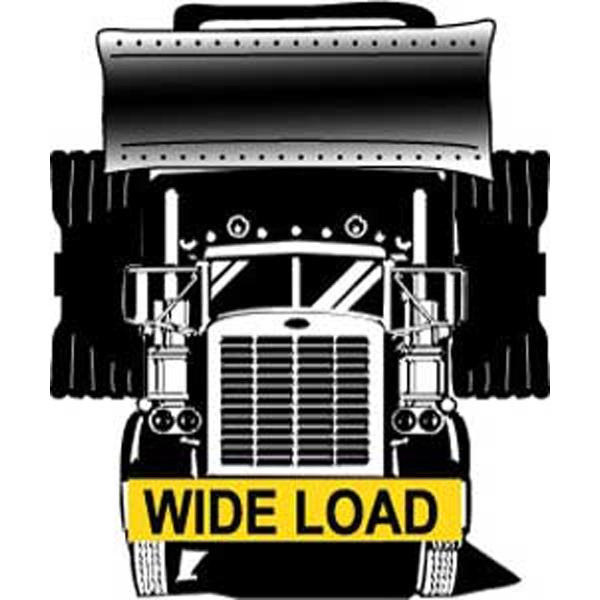 "18"" x 96"" Oversize load / wide load semi-trailer truck sign"