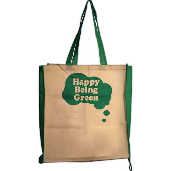 100% recycled nonwoven folding bag