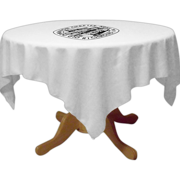 "Draped 36"" table throw"