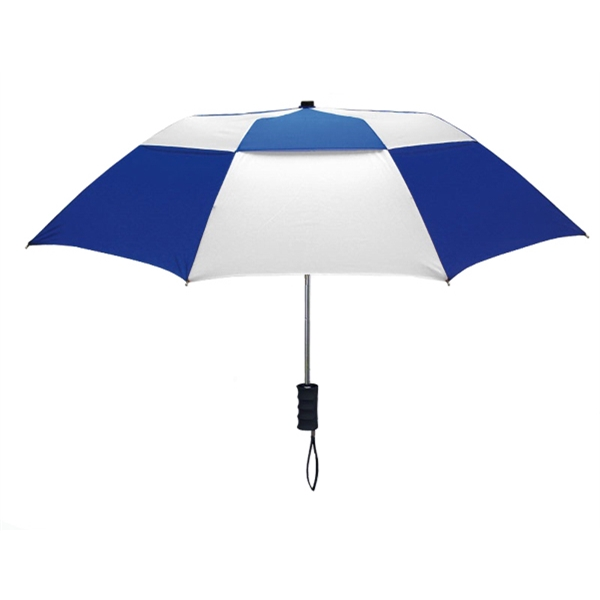 "The Zephyr - Vented Automatic Open Umbrella With A Black Rubber Spray Grip Handle, 43"" Arc Photo"