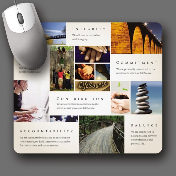 "Peel & Place (r) - 7.5""x8.5""x.015""-ultra Thin, Hard Surface Mouse Pad-5-day; Rush: 24 Hour,1,2,or 3-day Photo"