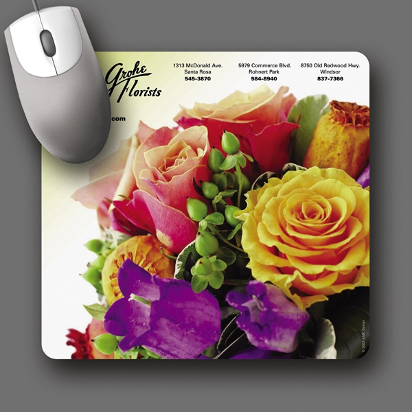 "Barely There (tm) - 7.5""x8""x.020""-ultra Thin, Hard Surface Mouse Pad-5-day; Rush: 24 Hour,1,2,or 3-day Photo"