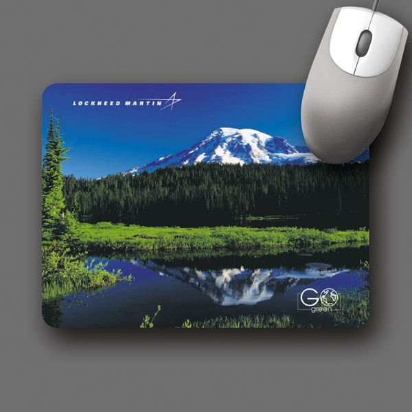 "Retreads (r) - 6""x8""x3/32""-100% Recycld Tire Hard Surface Mouse Pad-5-day; Rush: 24 Hr,1,2,or 3-day Photo"