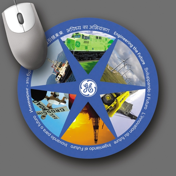 "Retreads (r) - 8""dia.x3/32""-100% Recycld Tire Hrd Surface Mouse Pad-5-day; Rush: 24 Hr,1,2,or 3-day Photo"