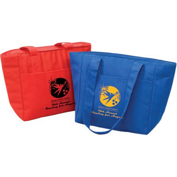 Insulated Cooler Bag - Cooler bag made from non-woven, recyclable polypropylene and leak-proof interior