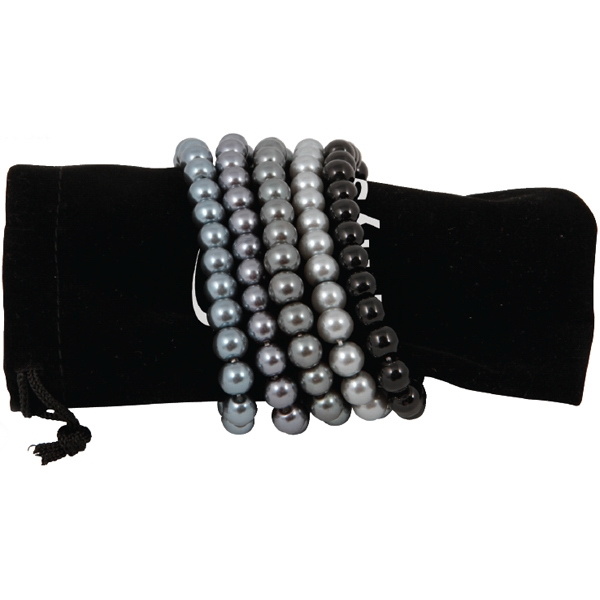 Bret Roberts (tm) - Silver Tone Glass Pearl Bracelet Set With Designer Styling Photo