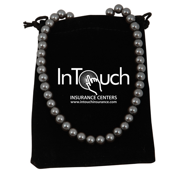 Bret Roberts (tm) - Beautiful Charcoal Glass Pearl Necklace That Is Elegant For Any Occasion Photo