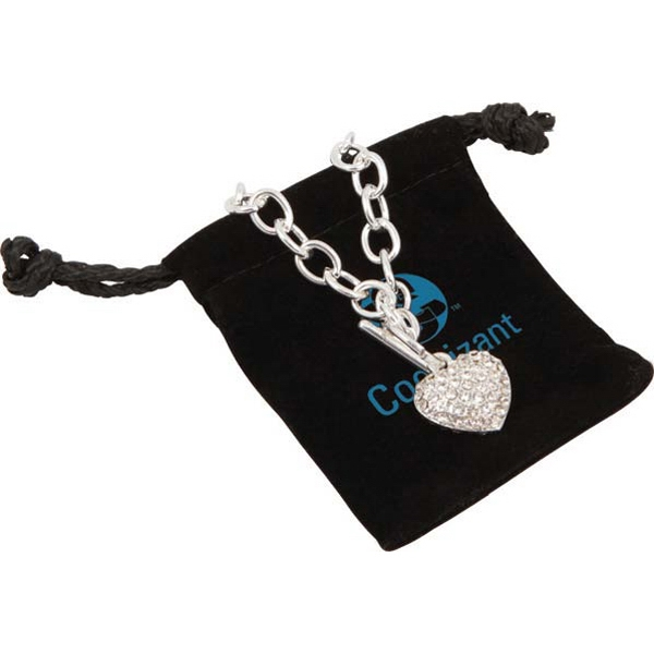 Bret Roberts (tm) - Crystal Heart Bracelet With Silver-plated Links Photo