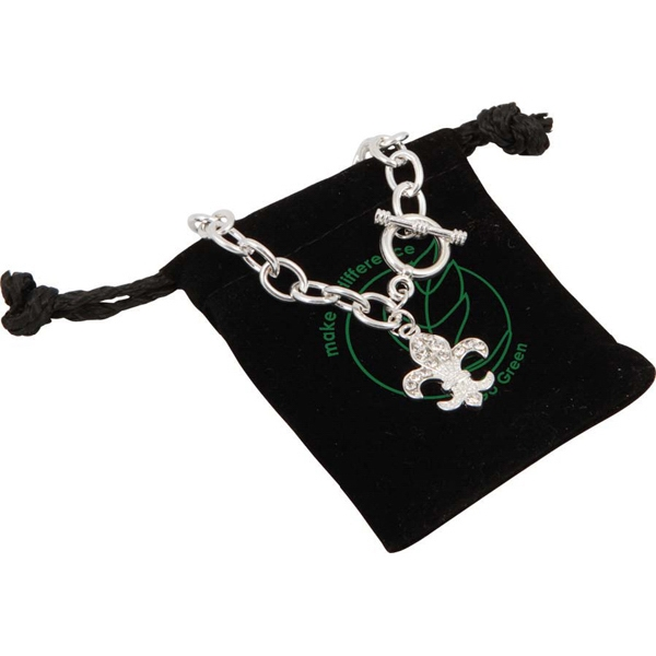 Bret Roberts (tm) Fleur De Lys - Necklace With Designer Styling, Silver Plated Links And Egyptian-style Toggle Clasp Photo