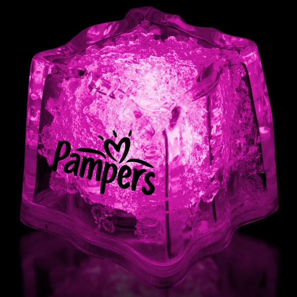 "Pink 1 3/8"" Premium Light-Up Glow Cube"