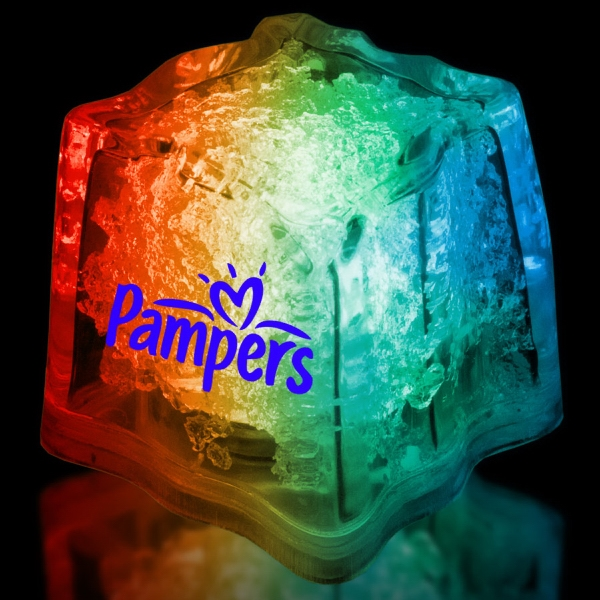 "Rainbow 1 3/8"" Premium Light-Up Glow Cube"