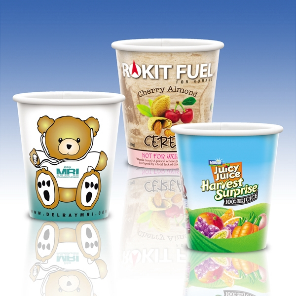Heavy Duty Paper Cold Cup-9 Oz.-full Color- 5-day Std; Rush: 2,3,or 4-day Photo