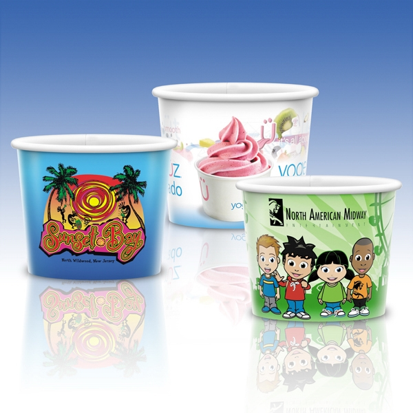 8 Oz.-heavy Duty Paper Cold Container-full Color- Promotional Container Photo