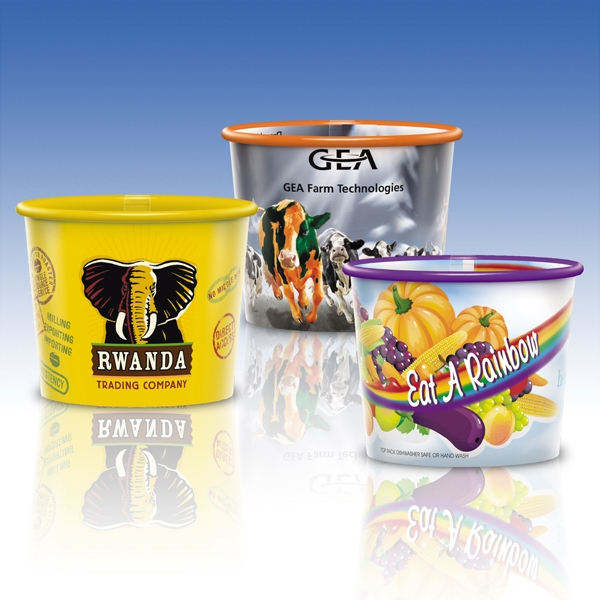 8 Oz.-reusable Clear Plastic Container-full Color- Promotional Container Photo