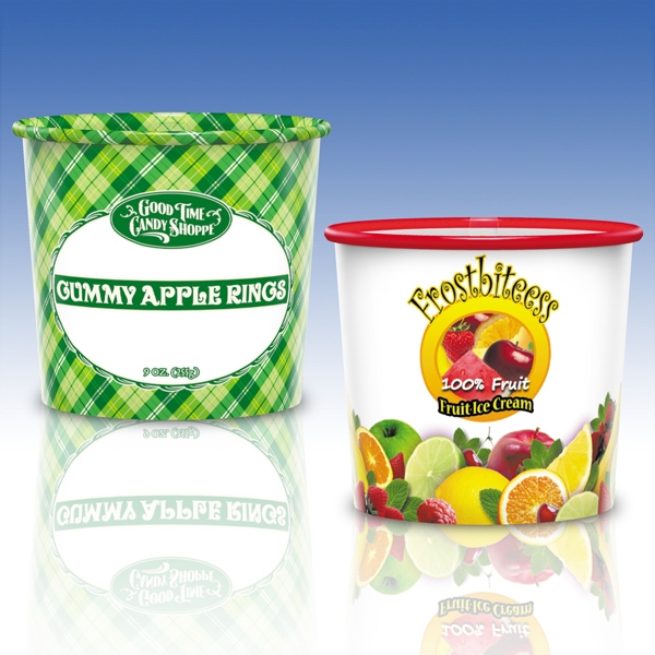 Reusable Clear Plastic Container - 16 Oz. - Promotional Container Photo