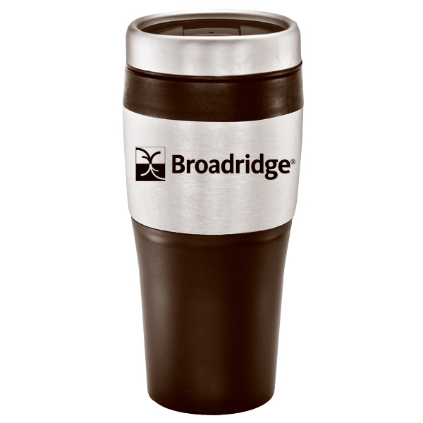 14 Oz. Plastic With Stainless Accent Travel Mug/tumbler Photo
