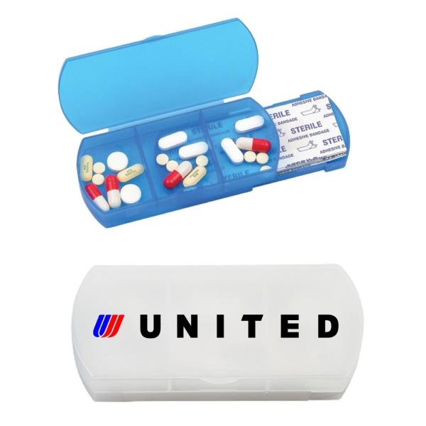 Bandage and pill dispenser