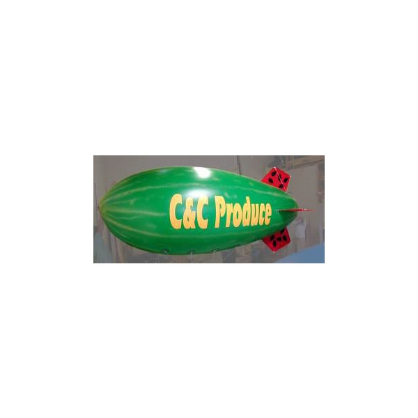 Balloon - Aerial blimp shape helium inflatable balloon with tether line, repair kit and more.