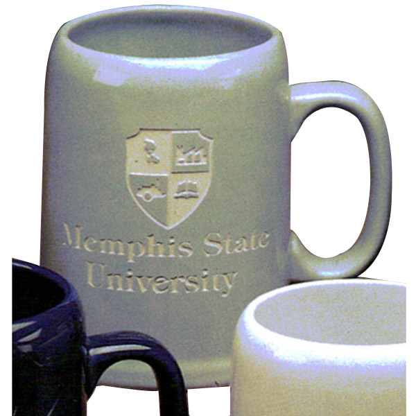 Tankard - Light Gray Mug. Our Deep Engraved Mug For Your Favorite Brew Photo